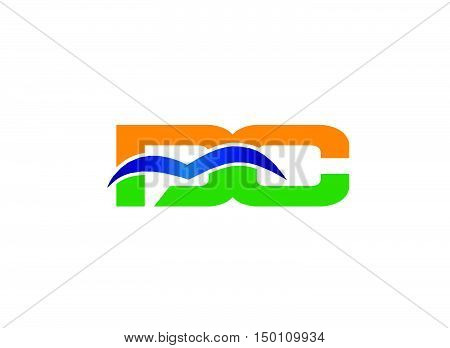 DC company linked letter logo design vector template