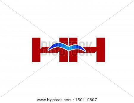 HH Logo. Vector Graphic Branding Letter Element