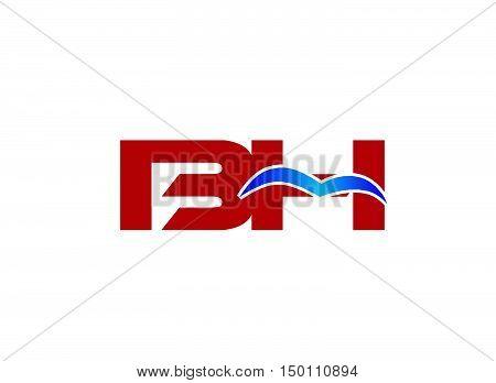 B and H logo vector design vector template