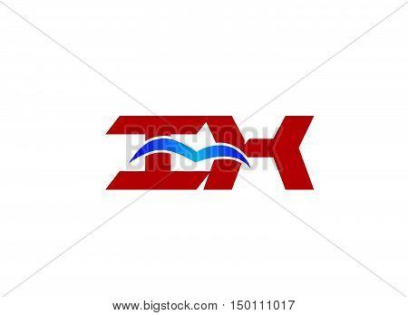 HK Logo. Vector Graphic Branding Letter Element