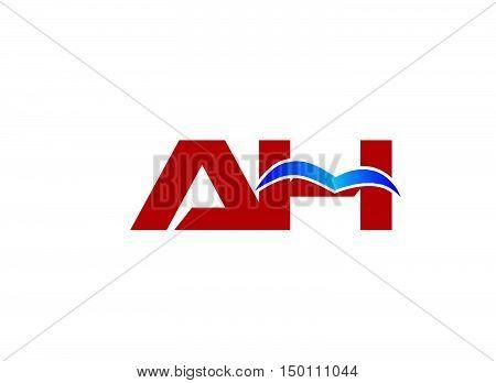 A and H logo vector design vector template