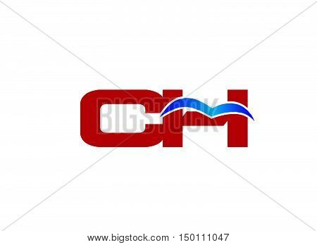 C and H logo vector design vector template