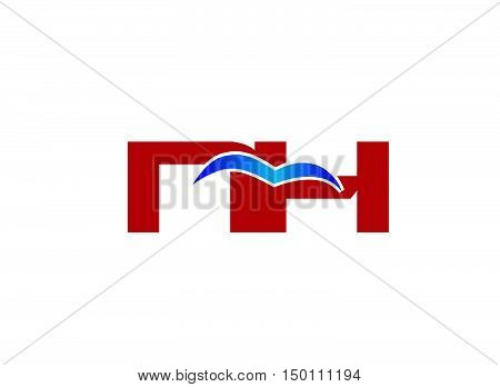 N and H logo vector design vector template