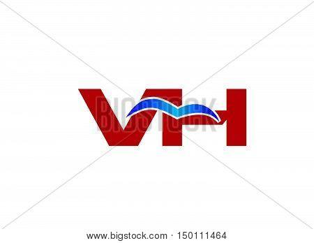 V and H logo vector. V and H logo vector vector design
