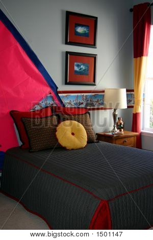 Boys Water Sports Themed Bedroom