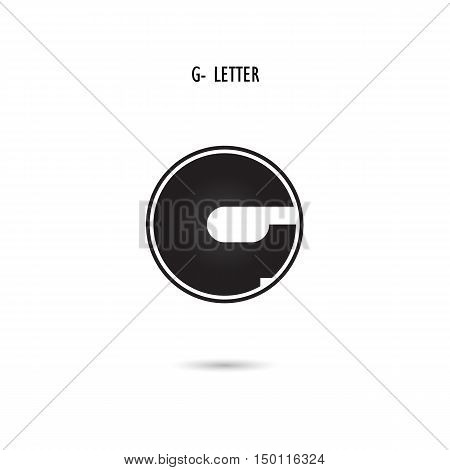 Creative G-letter icon abstract logo design.G-alphabet symbol.Corporate business and industrial logotype symbol.Vector illustration