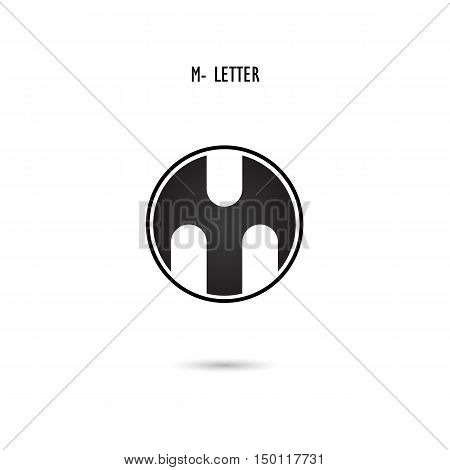 Creative M-letter icon abstract logo design.M-alphabet symbol.Corporate business and industrial logotype symbol.Vector illustration