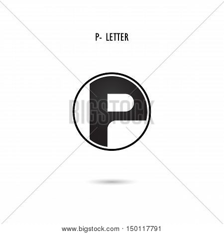 Creative P-letter icon abstract logo design.P-alphabet symbol.Corporate business and industrial logotype symbol.Vector illustration