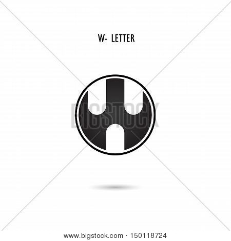 Creative W-letter icon abstract logo design.W-alphabet symbol.Corporate business and industrial logotype symbol.Vector illustration