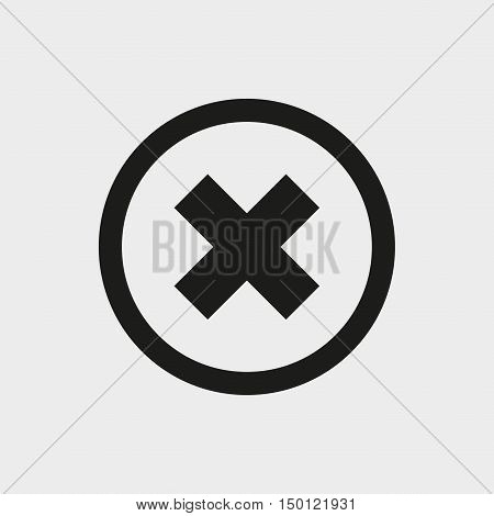 delete icon stock vector illustration flat design
