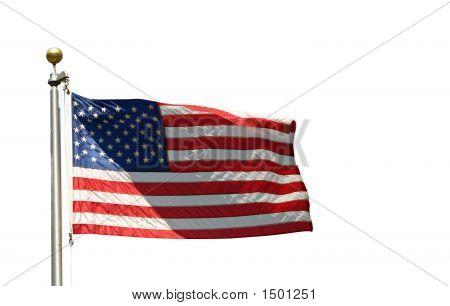 US flag psd