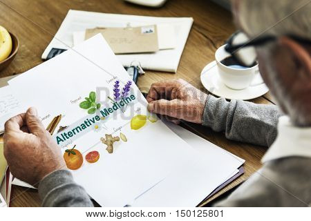 Alternative Medicine Healthcare Herbal Natural Concept