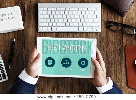 Network Website Development Data Concept