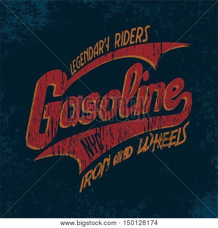 Grunge t-shirt graphic design, grunge print stamp, vecto