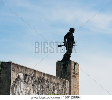Santa Clara, Cuba - September 13, 2016: Grave monument in Santa Clara by Che Guevara