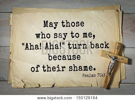 TOP-1000.  Bible verses from Psalms. May those who say to me,