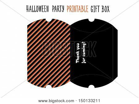 Printable gift box for Halloween party. Handmade cut out