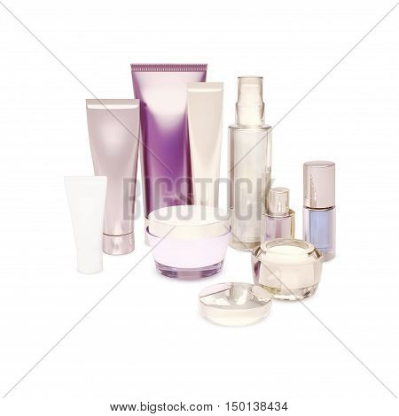 skin care beauty isolated on white, 3D illustration