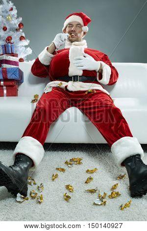 Gluttonous Santa