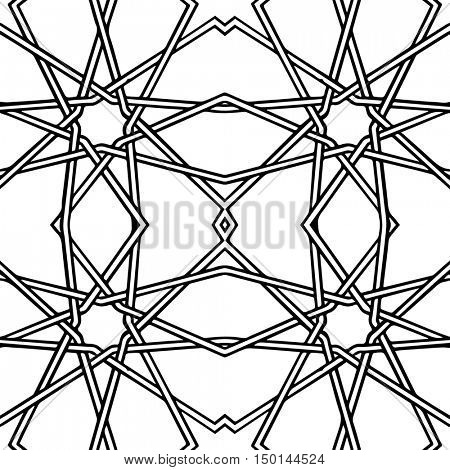 Abstract seamless black and white pattern (another format in portfolio)