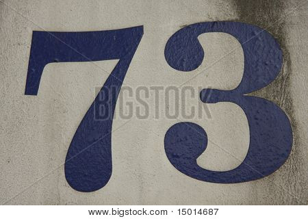 House number 73 in Bangkok in Thailand poster