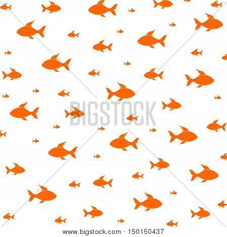 Vector Fish pattern illustration on white background