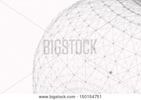 futuristic network communication 3d illustration