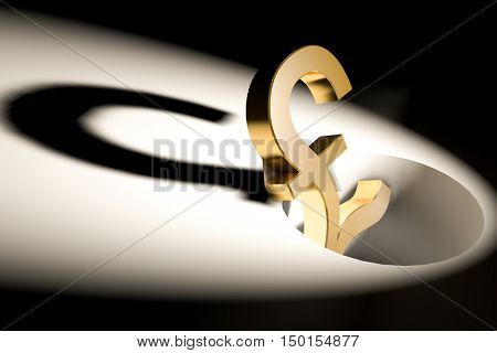 3d illustration currency sign of pound
