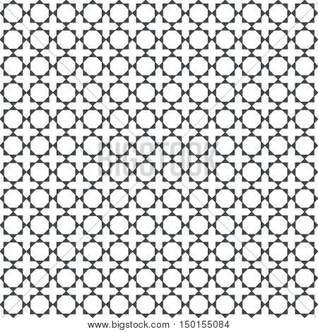 Vector seamless pattern. Abstract textured background. Modern stylish texture with regularly repeating geometric shapes small triangles squares rhombuses. Graphic design element