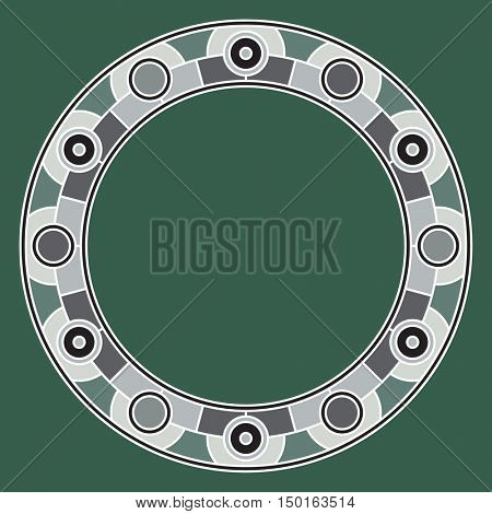 round frame, vector illustration