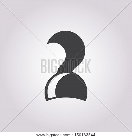 pirate hook icon on white background for web