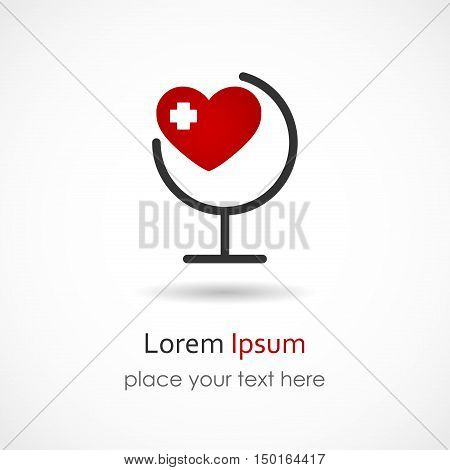 Vector illustration of a Medical Heart Icon