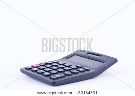 calculator for calculating the numbers accounting accountancy finance business calculation  on white background  isolated (front view)