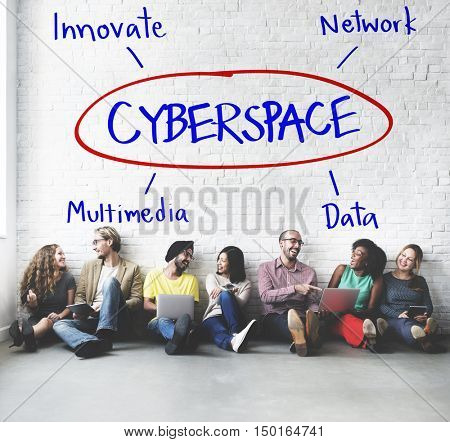 Cyberspace Network Multimedia Innovate Multimedia Concept