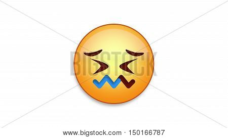 Confounded emoji emoticon. Easy integration in photo and video.