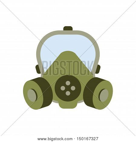 Gas mask vector illustration, isolated over white background