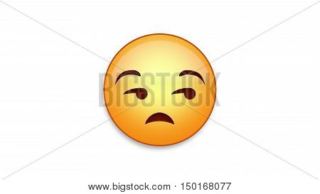Unimpressed emoji emoticon. Easy integration in photo and video.