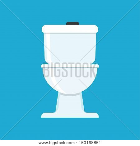 Flat vector icon for toilet. vector icon white background.