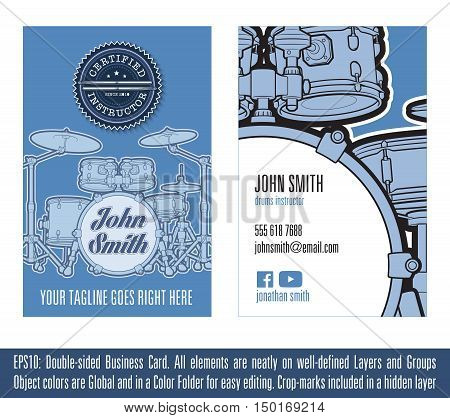 Drums Instructor Business Card