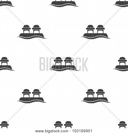 mooring bollard icon on white background for web