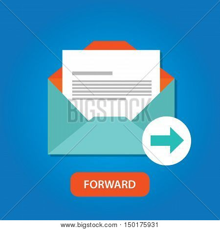 email automatic auto forward response icon button vector