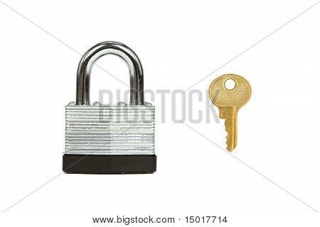 Steel Padlock and Key