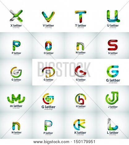 set of internet letter logo icons