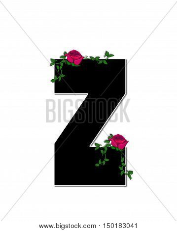 Alphabet Rose Trellis Z