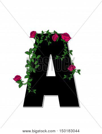 Alphabet Rose Trellis A