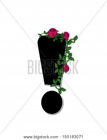 Alphabet Rose Trellis Exclamation