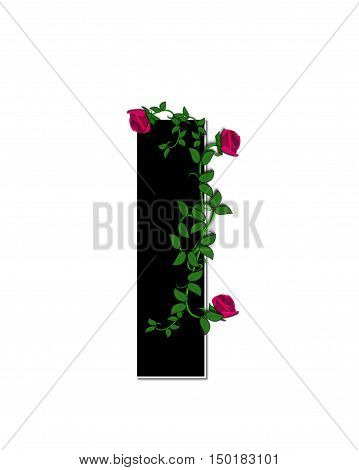 Alphabet Rose Trellis I