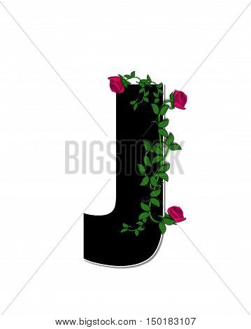 Alphabet Rose Trellis J