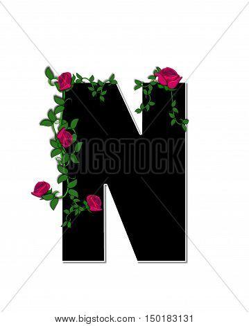 Alphabet Rose Trellis N