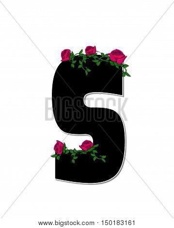 Alphabet Rose Trellis S